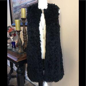 Michael Kors Long Faux Fur Vest, mid thigh length